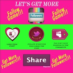Join this follow game to get more followers!! 🎉🎉 Let's help each other grow more followers. To get started, follow me (😘), like this post, follow all who have liked and then tag 3 friends so they can do the same. Share! Share! Share!! 👯🎉💅🏽 Bags