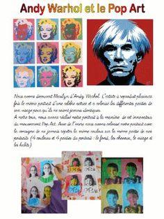 A la manière d'Andy Warhol - Chez lulu - Des ressources pour l'école