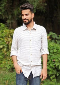 When the sun shines strongly and wind blows warmly what else can you think off than a classic hand woven khadi shirt..