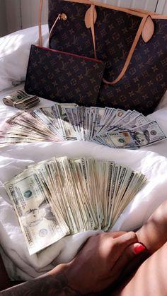 money, louis, lv, louisvuitton, money goals - All About