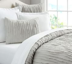 King size looks better on queens - Camille Duvet Cover, King/Cal. King, Gray