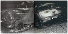 Elvis Presley's first cadillac burned up on June 5th,1955. About half way to Texarkana,Texas from a Hope,AR 'Fair Park' concert a wheel bearing caught fire and the pink cadillac burned up. Elvis Presley had this car for a little more than two months. Scotty and Bill gave him a hard time as the instruments and clothing sat forlornly by the side of the road but then there was business to be taken care of as they had to charter a plane to get to the next show in Dallas,Texas