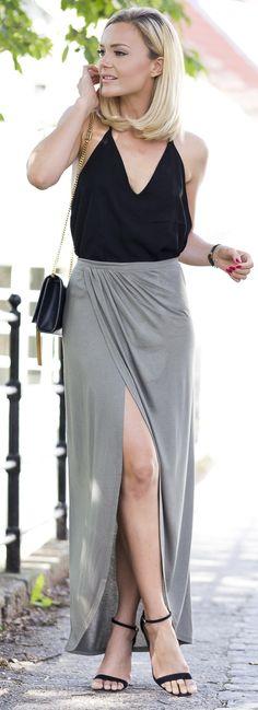 Grey + Black Outfit Idea