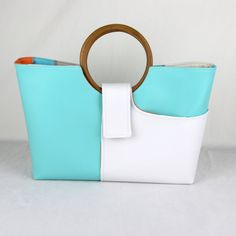 Sophia Purse Turquoise by zaumgear on Etsy, $110.00