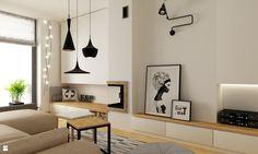 Wystrój wnętrz - Salon z narożnym kominkiem - pomysły na aranżacje. Projekty, które stanowią prawdziwe inspiracje dla każdego, dla kogo liczy się dobry design, oryginalny styl i nieprzeciętne rozwiązania w nowoczesnym projektowaniu i dekorowaniu wnętrz. Obejrzyj zdjęcia!