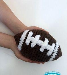 holding crochet football