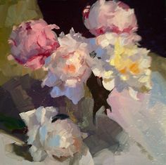 Exploding Peonies by Dennis Perrin Oil ~ x Acrylic Painting Flowers, Watercolor Paintings, Floral Paintings, Flower Art, Art Flowers, Painted Flowers, Paintings I Love, Sell Your Art, Painting Inspiration