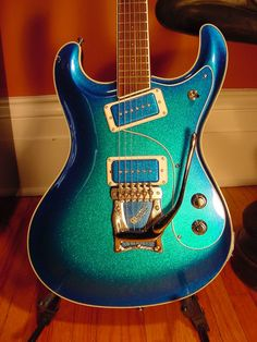 Always wanted one. If and when I do finally get one, this would be it as I have always been a sucker for Blue guitars.