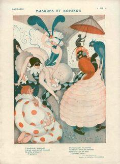 by Gerda Wegener 1923 Costumes Masquerade Ball