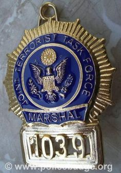 Badge US Marshal Terrorist Task Force Special Forces Logo, Funny Dancing Gif, Fire Badge, Us Marshals, Law Enforcement Badges, Law And Order, Police Officer, Projects To Try, Police Badges
