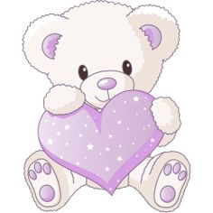 Valentine's Day Clipart - White Teddy bear with Pink Heart Tatty Teddy, White Teddy Bear, Cute Teddy Bears, Quilt Baby, Bear Cartoon, Cute Cartoon, Cartoon Clip, Clip Art, Bear Clipart