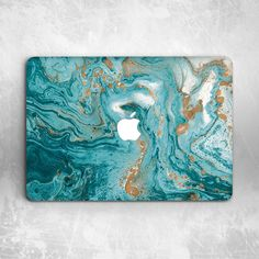 Gold Turquoise Marble Hard Cover Case For Macbook Pro Retina Air 11 12 13 15 - Apple Computer Laptop - Ideas of Apple Computer Laptop - Macbook Pro Retina, Macbook Air, Macbook Laptop, Macbook Pro Case, Mac Laptop Case, Marble Macbook Case, Ipad Case, Macbook Pro Accessories, Desktop Accessories