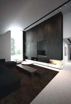 Interior architecture - fire place<3<3 UPSTAIRS TV ON WALL