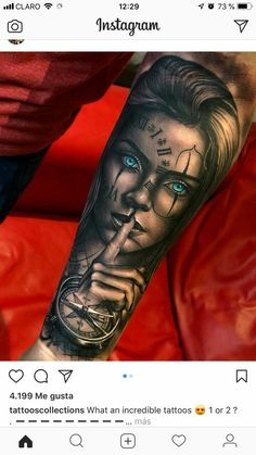 Sleeve Tattoos for Women Best Tattoo Sleeve Ideas For Women Fantastic Half and Full Sleeve Tattoos for Women images Ideas Designs for Girls 2019 2020 Skull Girl Tattoo, Girl Face Tattoo, Girl Arm Tattoos, Arm Sleeve Tattoos, Leg Tattoo Men, Badass Tattoos, Sleeve Tattoos For Women, Tattoo Sleeve Designs, Cool Tattoos
