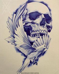Skull Tattoo Design, Tattoo Sleeve Designs, Sleeve Tattoos, Bic Pens, Skeleton Art, Pen Art, Stonehenge, Skull Art, Fantasy World