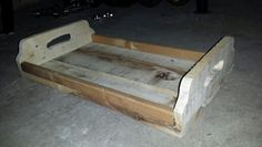 Unfinished recycled pallet tray
