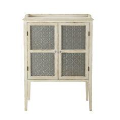 Cabinet de rangement en bois blanc cassé L 86 cm