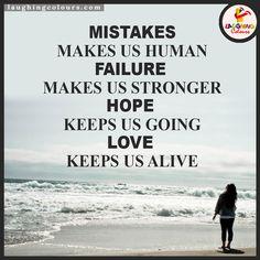 Mistakes, Failure, Hope, Love