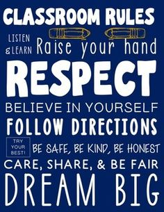 Welcome back your students with this inspirational and informational classroom rules subway art poster!It includes one classroom rules subway art poster in navy blue. Print and enlarge it at your favorite print shop such as Office Max, Costco, or Staples.