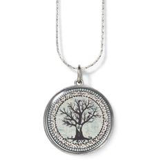 Handcrafted Silverplate Peace Pendant 24 Inch - New Age & Spiritual Gifts at Pyramid Collection