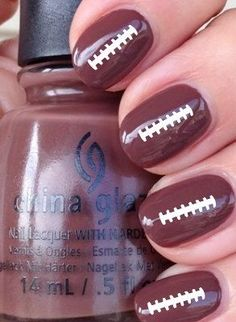 Football Ties Vinyl Nail Decals Stickers by CutecraftycreationUT on Etsy https://www.etsy.com/listing/203503750/football-ties-vinyl-nail-decals-stickers