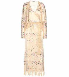 Embroidered printed silk dress   Attico