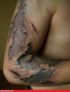 Cool tattoo. Not for me.