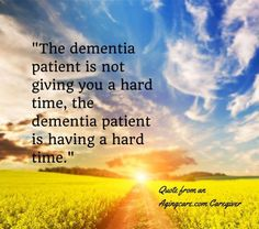 Dementia thoughts