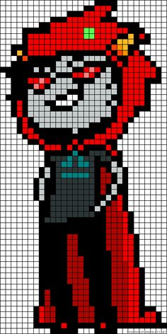 Homestuck Terezi Pyrope perler bead pattern Holy flipping snap crackle pop yes.I'm totally making this once I'm done with Wendy Marvell from Fairy Tale for my brother Pixel Art Templates, Perler Bead Templates, Perler Patterns, Kandi Patterns, Pixel Pattern, Cute Pattern, Homestuck Characters, Minecraft Pixel Art, Minecraft Stuff