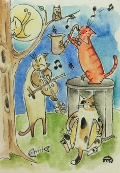 The cat musicians by M.King