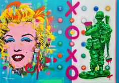 Fadiel Hermans: XOXO (Marilyn): pop art | StateoftheART Life Paint, Still Life, Pop Art, Original Paintings, Canvas, Gallery, Birthday, Tela, Birthdays