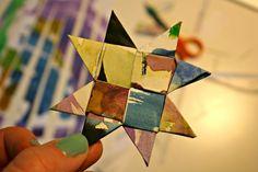 pralerier: Julepynt af børnemalerier - DIY