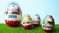 Maxi Kinder Surprise Egg and 3 Kinder Surprise Eggs Easter Special Edition