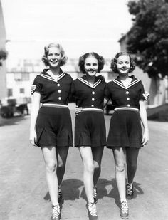 "Deanna Durbin and friends: Actresses Barbara Read (1917-1963), Deanna Durbin (b. 1921-2013), and Nan Grey (1918-1993), in Henry Koster's film, ""Three Smart Girls,"" 1936."