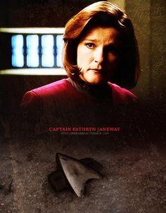 Star Trek Voyager - Captain Kathryn Janeway (Kate Mulgrew) Wallpaper.