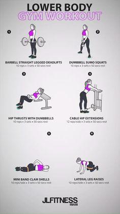 Lower Body Gym Workout #body #gym #lower #routine #workout #workoutroutine