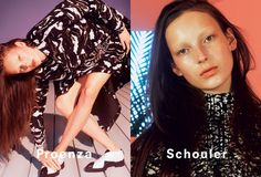 Proenza Schouler AW14 campaign David Sims Julia Bergshoeff- this look but with visible eyebrows