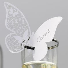 10 Butterfly Wedding Place Name Cards