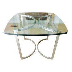 5bd3abfd63 Vintage Mod Chrome   Glass Table Dining Room Inspiration