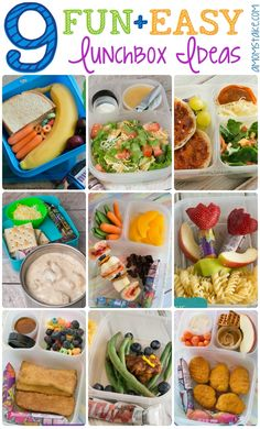 9 Fun + Easy Lunchbox Ideas - simple bento lunches for kids that they will love