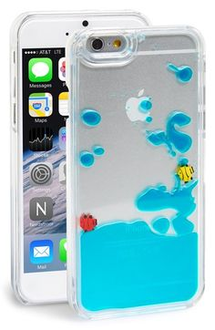Free shipping and returns on SKINNY DIP Skinnydip 'Blue Fish' Liquid iPhone 6 Case at Nordstrom.com. Show off your iPhone while keeping it safe from scuffs and scratches with a transparent hard-shell case with fish swimming in their own little blue sea of liquid.