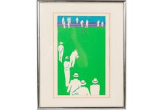 Framed Serigraph, Bowling on One Kings Lane today