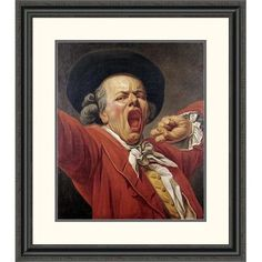 Global Gallery 'Self-Portrait as a Yawning Man' by Francois-Joseph Ducreux Framed Painting Print Size: