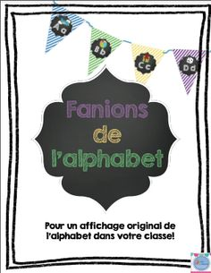 Banderole de l'alphabet français/ French alphabet pennants