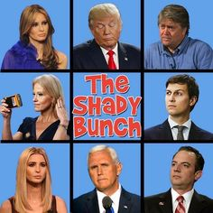 Trump, The Shady Bunch Crooked Pervert Donnie and his Fascist party Caricatures, Donald Trump, Before Us, Just In Case, Funny Pictures, Funny Pics, Hilarious, It's Funny, Funny Quotes
