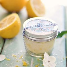 Make a natural face scrub in minutes. Perfect Mother's day gift