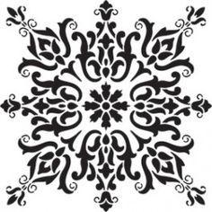 stencil patterns for furniture << craftylaser motif medallion window screen: Stencils, Damask Stencil, Stencil Patterns, Stencil Art, Stencil Designs, Designs To Draw, Stencil Decor, Islamic Pattern, Craft Robo