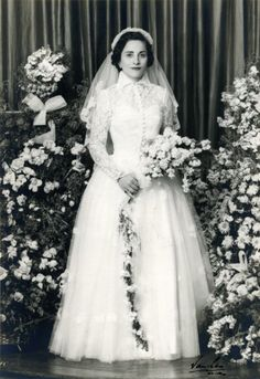 Untitled (portrait of a woman in wedding gown)