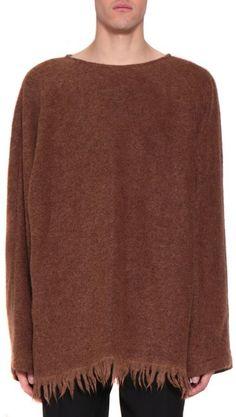 Dries Van Noten Vos Fringed Wool Sweater