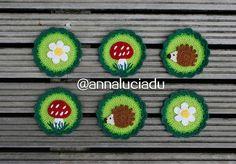 crochet patterns toadstool pattern woodland by Emmacrochetdesign4U